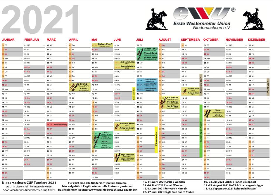 Turnierkalender 2021 | EWU Niedersachsen-Hannover e.V.